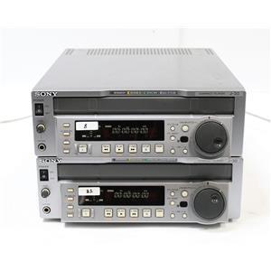 Lot of 2 Sony J-30 Compact Betacam SP, SX, Digi-Beta Video Cassette Players