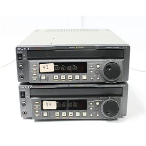 Lot of 2 Sony J-1 Compact Betacam SP, SX Video Cassette Players