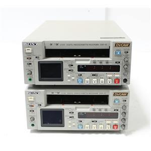 Lot of 2 Sony DSR-45 DVCAM Digital Video Cassette Recorders AS-IS