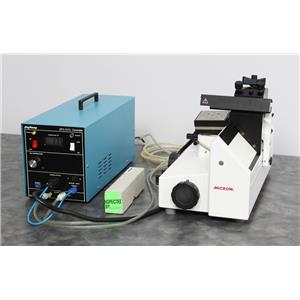 Used: Microm HM 400R Sliding Microtome w/ Physitemp BFS-30TC Freezing Stage & Blade