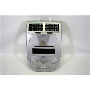 2007 2008 Jeep Patriot Radio Climate Dash Trim Bezel for Manual Climate Controls