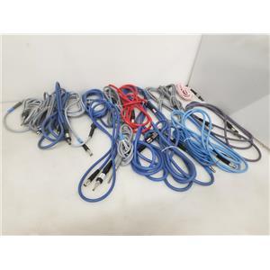 Lot of 18 Endoscopic Fiber Optic Light Cables