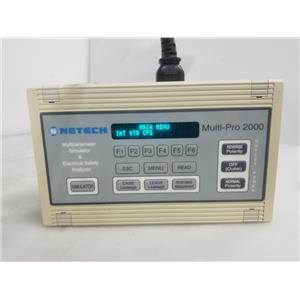 Netech Multi-Pro 2000 Biomed Tester Analyzer