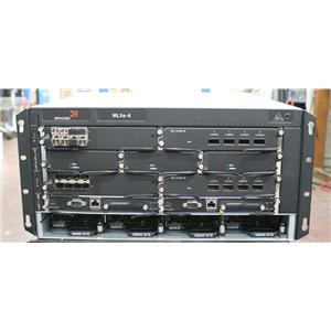 Brocade MLXe-4 AC Router with 2x MLX-40Gx4-M 40GbE, 2x MLX-10Gx8-M 10GbE Modules