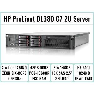 HP ProLiant DL380 G7 Server 2×Six-Core Xeon 2.93GHz + 48GB RAM + 8×146GB RAID