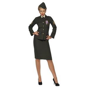 British Wartime Officer Ladies Adult Costume Large