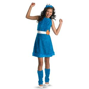 Cookie Monster Sassy Teen Child Costume X-Large 14-16