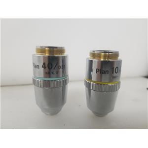 Nikon E Plan 10/0.25 & E Plan 40/0.65 Microscope Objectives