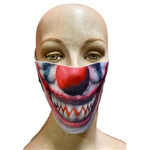 Reusable Halloween Face Cover Evil Clown Design Scary Face Mask