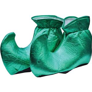 Green Cloth Elf Shoes Christmas Costume Accessory
