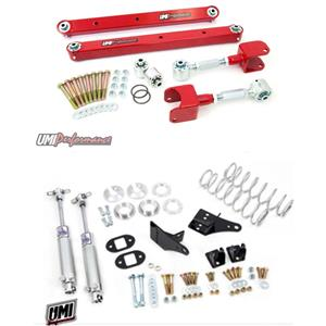 UMI 78-87 Regal El Co G-Body  Rear Suspension Kit Control Arms & Coilovers Red