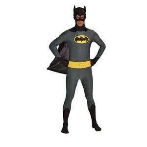 Retro Batman Bodysuit Zentai DC Comics Adult Costume Medium 36-40