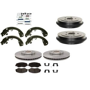 Brake Pads Rotors Shoe Drums and Spring Kit Saturn SC SL SE series 1991-2002