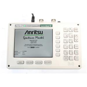 Anritsu MS2711D Color Portable RF Spectrum Analyzer 100kHz to 3GHz, New Battery