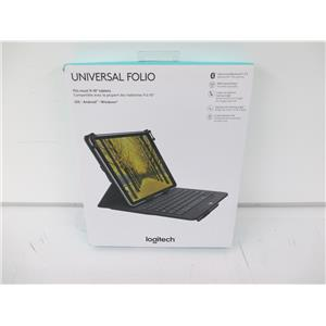 """Logitech 920-008334 Universal Folio Keyboard Case for 9 to 10"""" Tablets UNUSED!"""