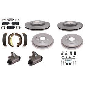 Brake Kit front & rear pad rotor shoe drum cyl fits Sentra 2013 - 2019