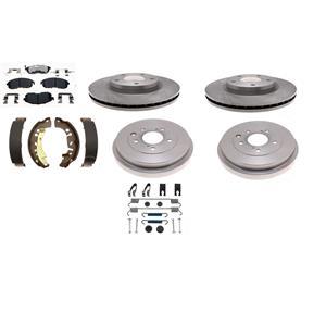 Brake Kit Ceramic Pad shoe drum rotor fits Nissan Sentra 2002-2006 Front & Rear