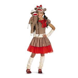 Sock Monkey Girl Child Costume Size Small 4-6