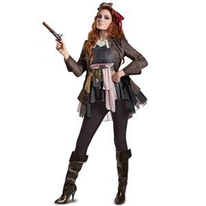 Jack Sparrow POTC5 Woman's Deluxe Costume Adult Medium 8-10
