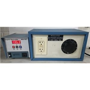 VECTOR-VID INSTRUMENTS DIVISION REGULATED AC POWER SOURCE 0-140V 60HZ 15A