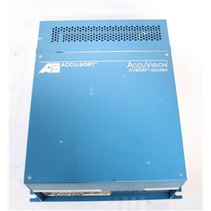 Accu-Sort AccuVision AV4000 Barcode / Vision Decoder PC