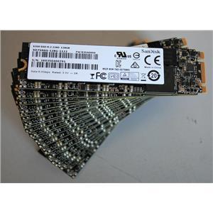 Lot 20 SanDisk X300 SSD SATA M.2 128GB Hard Drive SD7SN6S-128G Internal 6.0Gbps