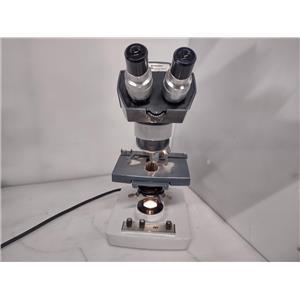 AO American Optical One-Ten 1130 Laboratory Binocular Microscope w/ 3 Objectives