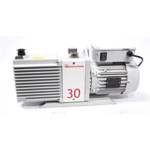 Edwards E2M30 Dual Stage Rotary Vane Mechanical Vacuum Pump