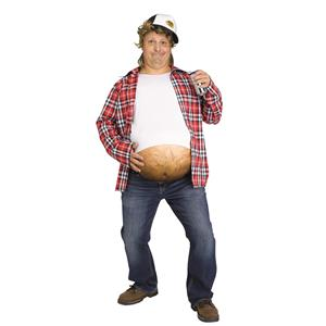 Stomach Beer Belly Stuffer Costume Hairy Belly Accessory