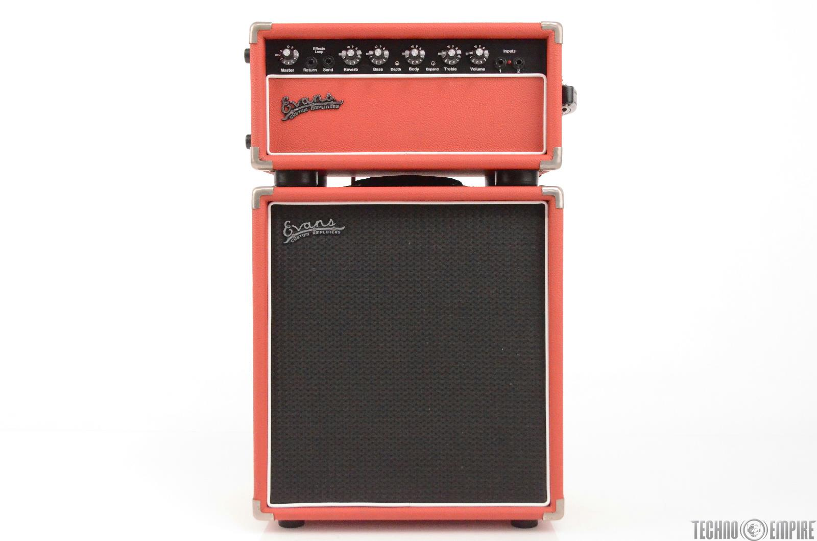 "Evans E150 Guitar Amplifier Amp Head w/ 1X12"" Speaker Cabinet Cab Red 150 #31515"