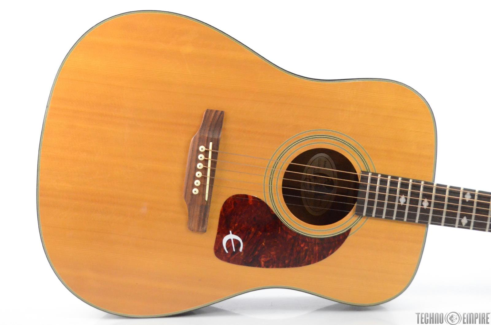 Epiphone PR-350NA Dreadnought Acoustic Guitar Natural Made in Korea 350 #31519