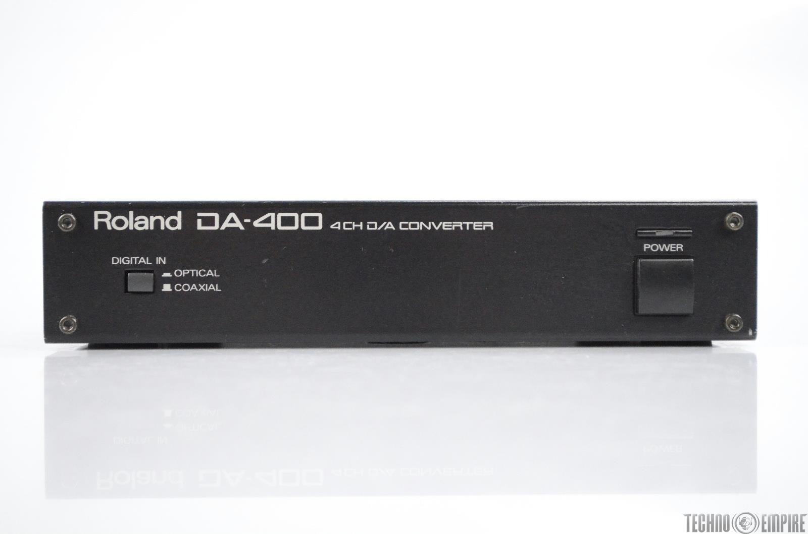 Roland DA-400 4-Channel D/A Signal Converter Digital to Analog DA400 #31088