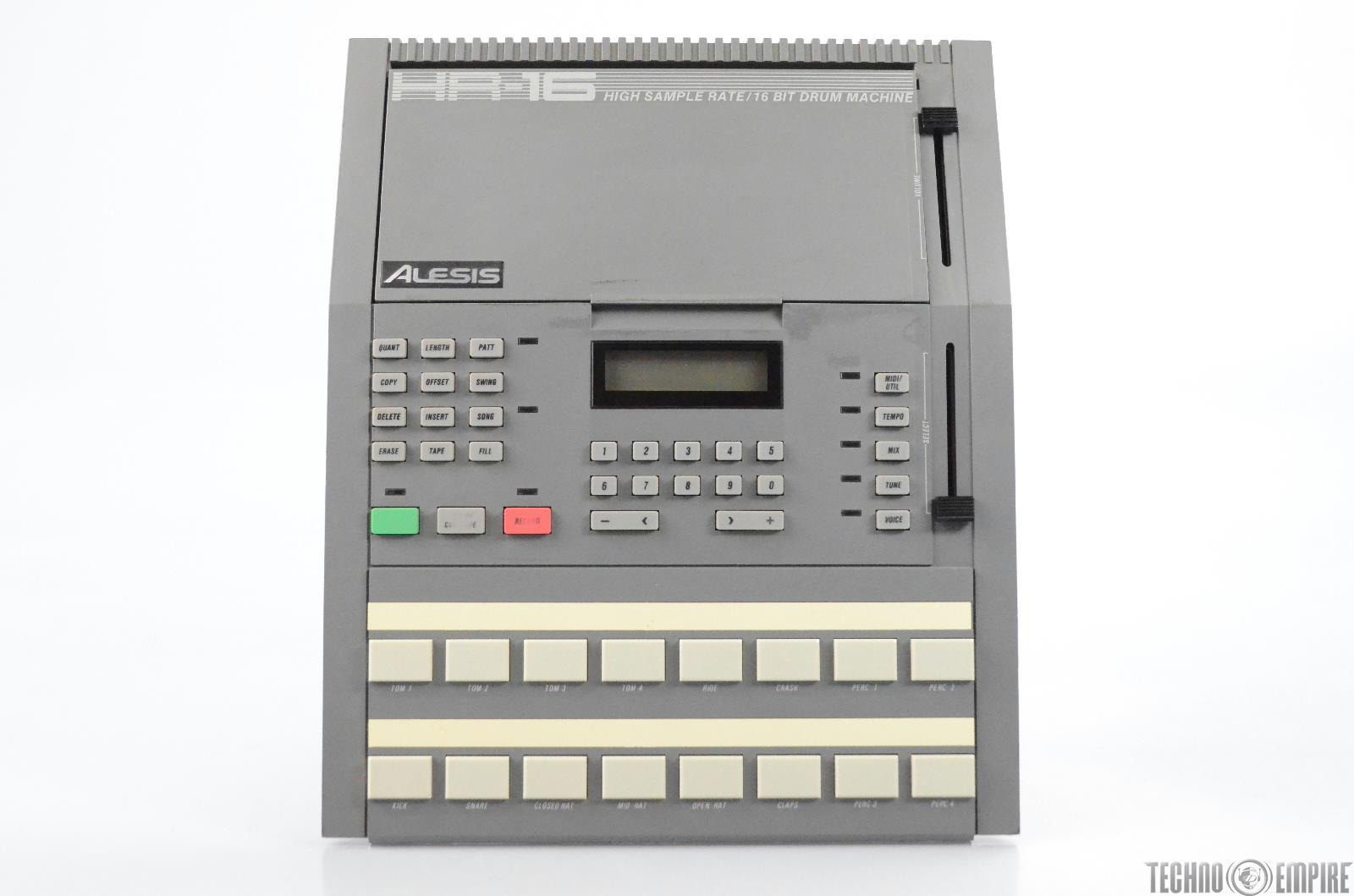 Alesis HR-16 Drum Machine 16-Bit MIDI In & Out For Parts or Repair HR16 #31090